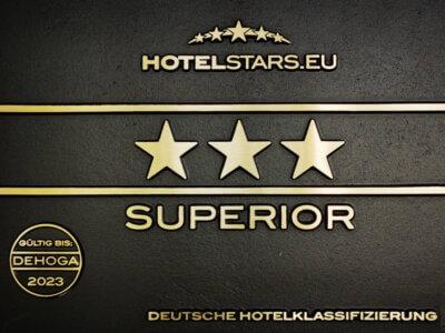 Auszeichnung 3-Sterne Superior für das Landhotel Schröder