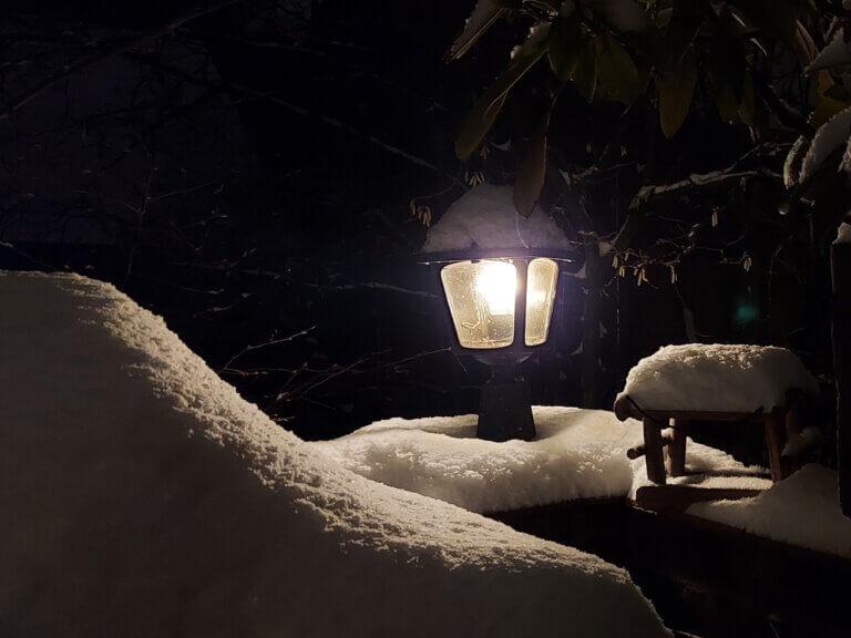 Winter am Landhotel Schöder