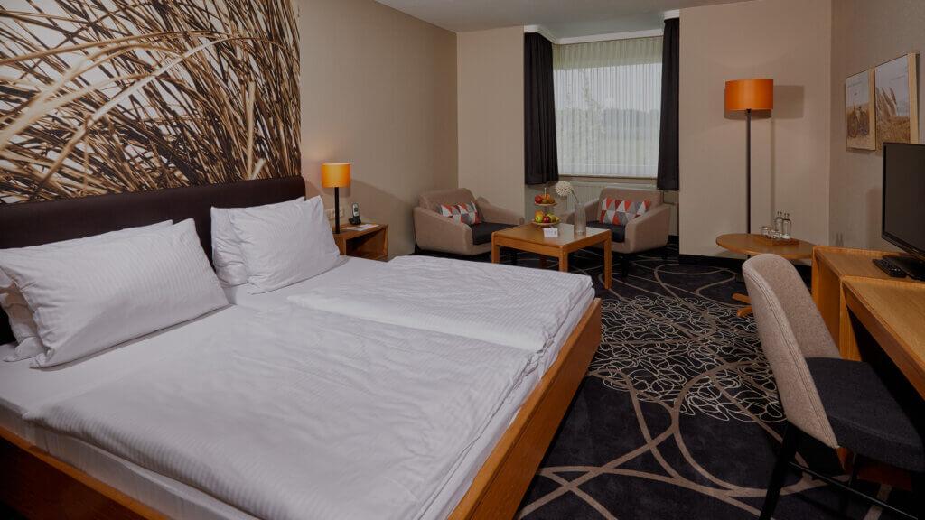 Hotelzimmer im Landhotel Schröder zwischen Hamburg und Bremen