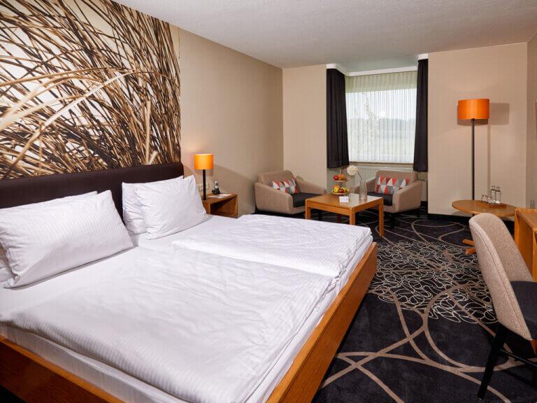 Zimmer im Landhotel Schröder zwischen Hamburg und Bremen