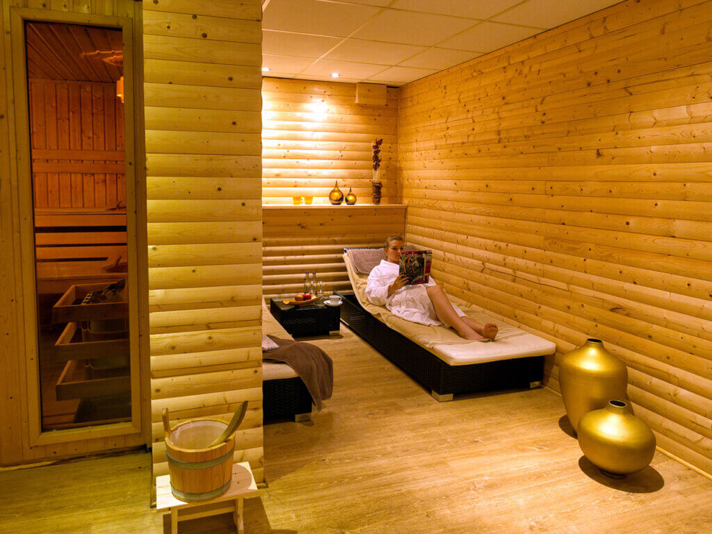 Sauna im Landhotel Schröder zwischen Hamburg und Bremen