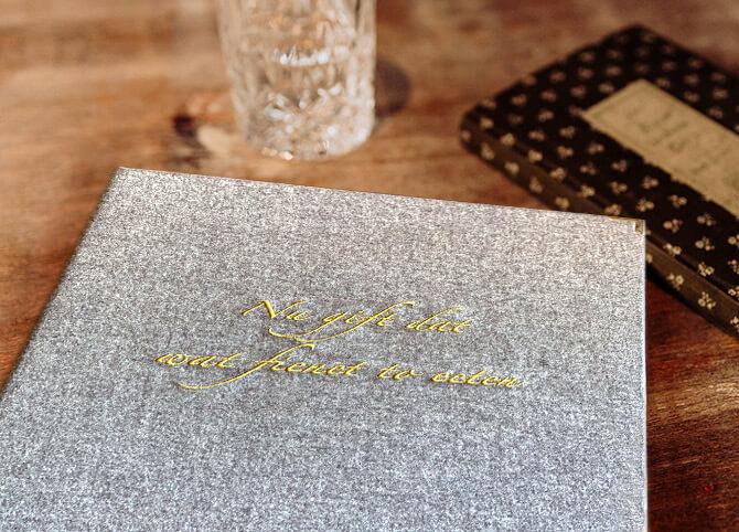 Speisekarte im Landhotel Schröder zwischen Hamburg und Bremen